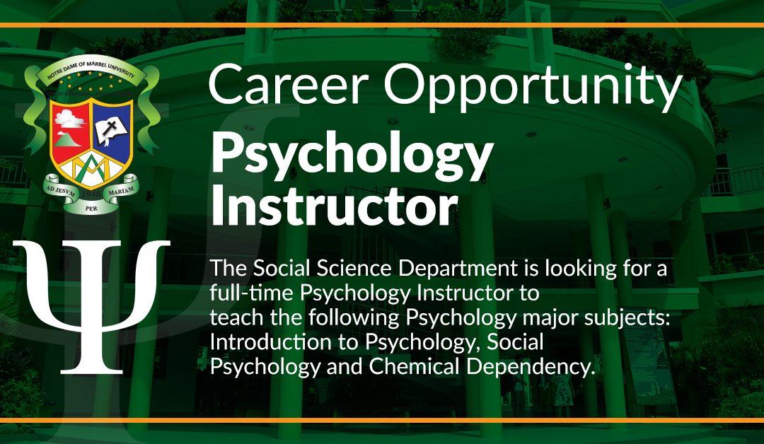 PSYCHOLOGY INSTRUCTOR