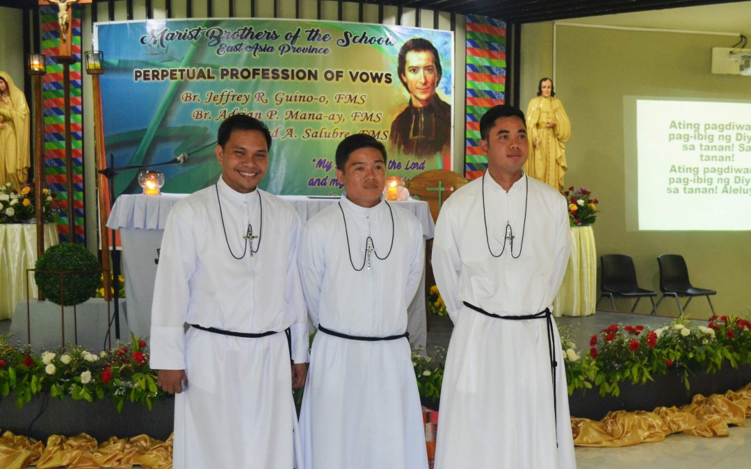 Three Marist Brothers profess perpetual vows