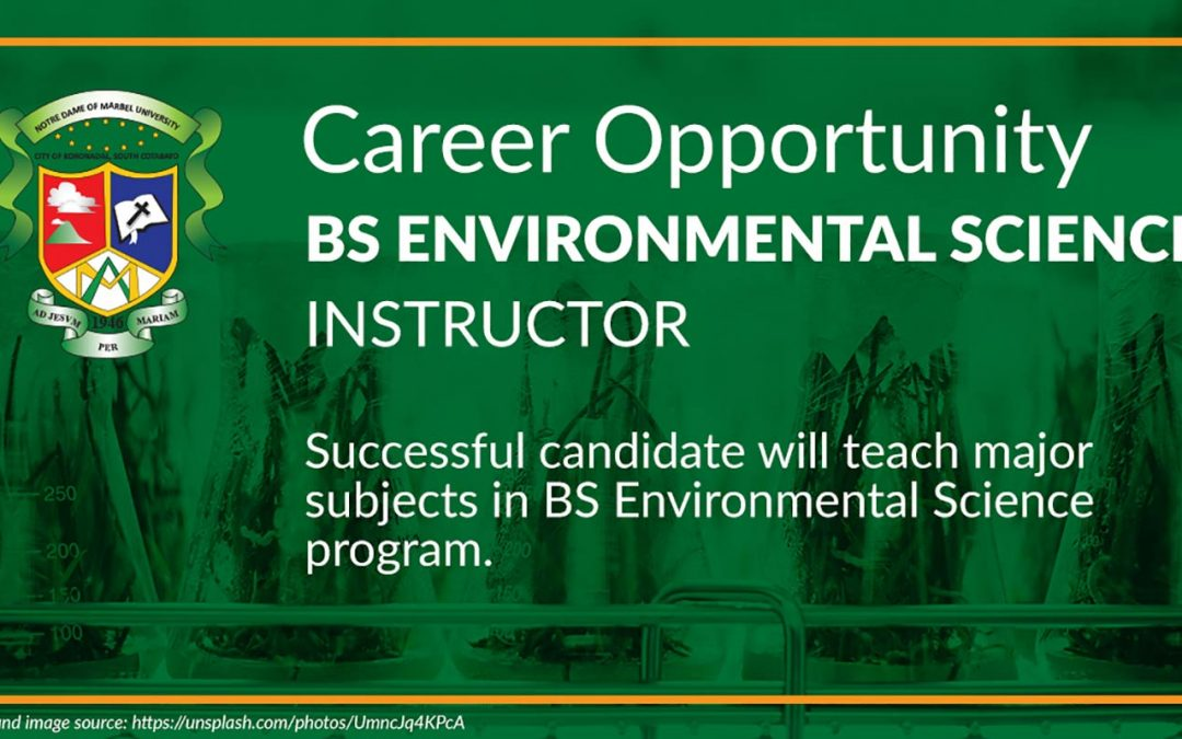 BS Environmental Science Instructor/Professor