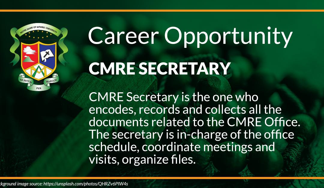 CMRE Secretary