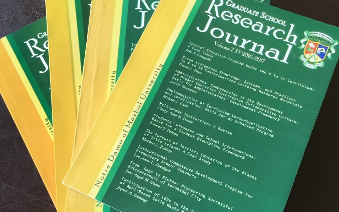 NDMU Graduate Research Journal Abstracts Now Available