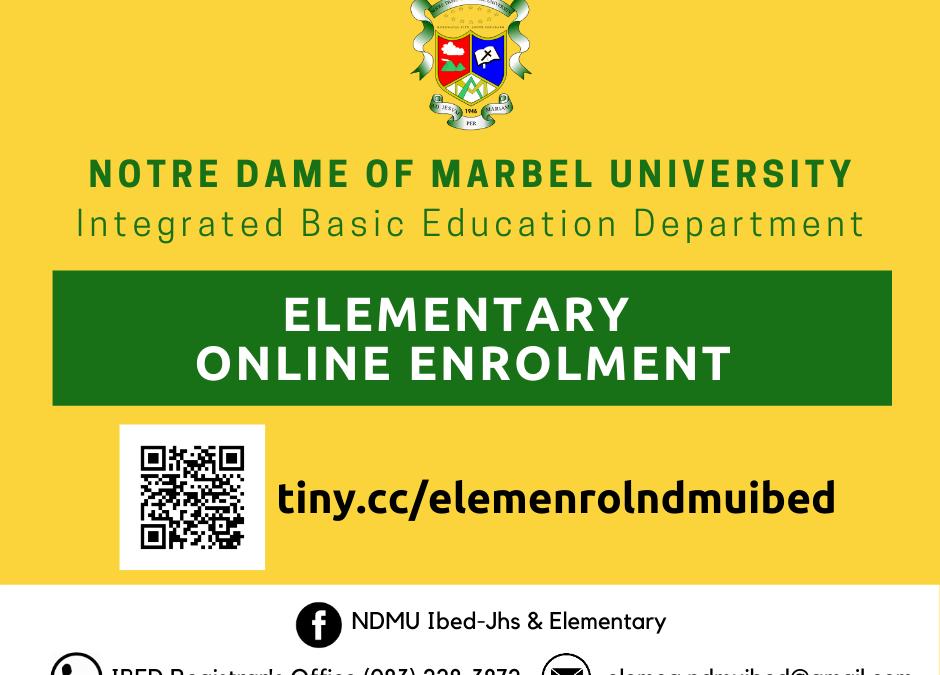 NDMU-IBED Elementary Online Enrolment
