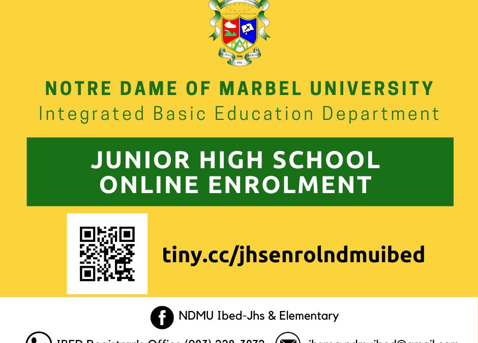 NDMU-IBED Junior High School Online Enrolment