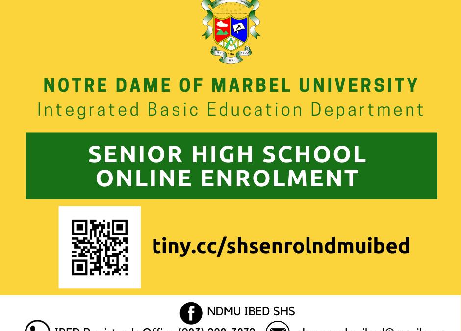 NDMU-IBED Senior High School Online Enrolment