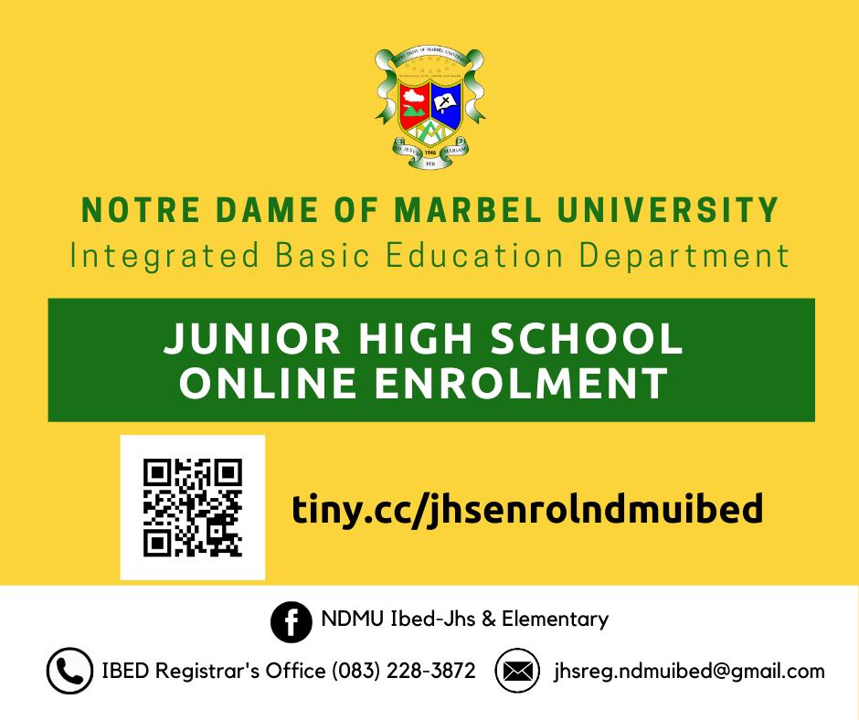 JHS Online Enrollment Link